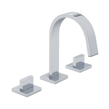 Vado Geo Deck Mounted 3 Hole Basin Mixer