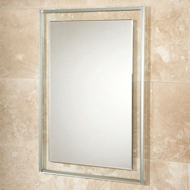 HIB Georgia Mirror on a Clear Glass Frame with a Decorative Mirror Border