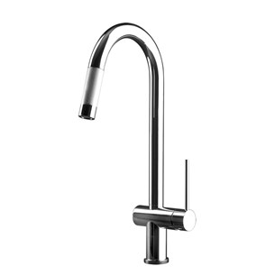 Gessi Oxygen Hi-Tech Single Lever Mono Kitchen Mixer With Pull-Out Rinse