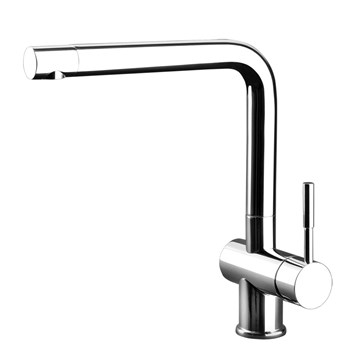 Gessi Oxygen Single Lever Mono Kitchen Mixer with Swivel Spout - Chrome