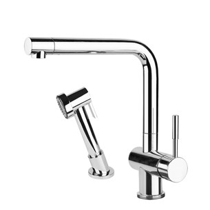 Gessi Oxygen Single Lever Kitchen Mixer With Swivel Spout & Separate Pull Out Spray