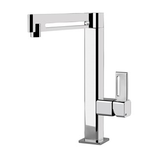 Gessi X-Sense Single Lever Square Mono Kitchen Mixer Tap
