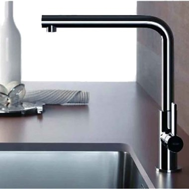 Gessi Aspire Single Lever Monobloc Mixer with Swivel 'L' Spout & Pull-Out Spray