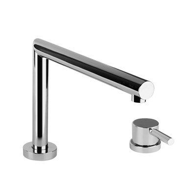 Gessi Logic 2 Hole Kitchen Mixer With Triple Height, Swivel Spout & Dual Control