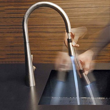 Gessi Just Single Lever Mono Kitchen Mixer with Swivel Spout & Pull Out Spray