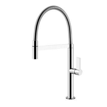 Gessi Aspire Side Lever Mono Kitchen Mixer With Swivel Spout & Double Jet Handshower