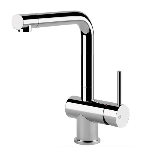 Gessi Oxygen Single Lever Mono Kitchen Mixer with Swivel 'L' Spout