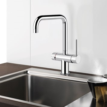 Gessi Oxygen 98 3 Way Hot Water Tap With Twin Control & Swivel 'U' Spout