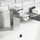 Vellamo Reveal Mono Basin Mixer Tap with Clicker Waste