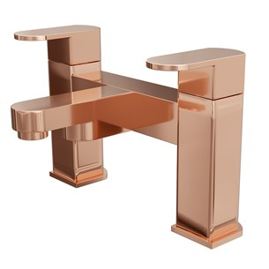 Vellamo Reveal Deck Mounted Bath Filler - Rose Gold