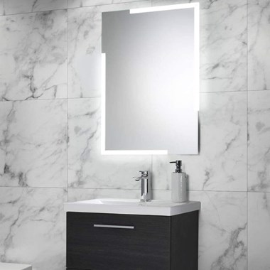 Harbour Icon LED Mirror with Demister Pad & Infrared Touch Button - 700 x 500mm