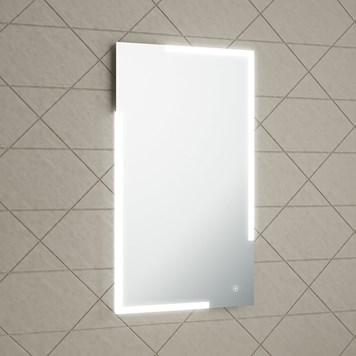 Harbour Icon LED Mirror with Demister Pad & Infrared Touch Button - 450 x 800mm