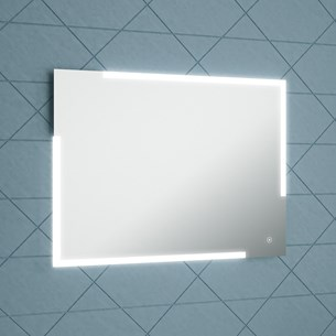 Harbour Icon LED Mirror with Demister Pad & Infrared Touch Button - 800 x 600mm