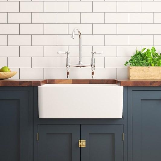 Butler Rose Ceramic Fireclay Large Belfast Kitchen Sink