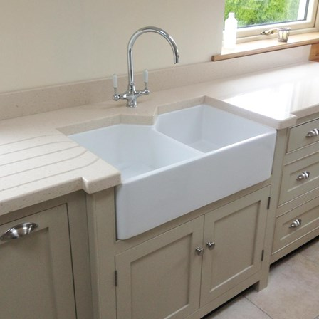 Butler Amp Rose Ceramic Fireclay Double Belfast Kitchen Sink