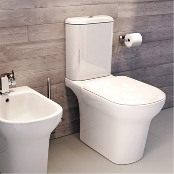 Imex Grace Rimless Comfort Height Close Coupled Toilet with Soft Close Seat