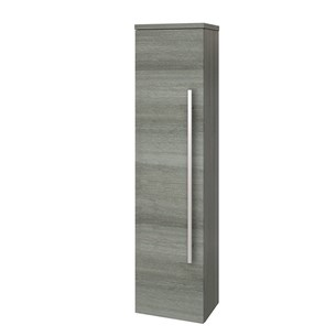 Drench Gregory Wall Mounted Side Unit - Grey Ash