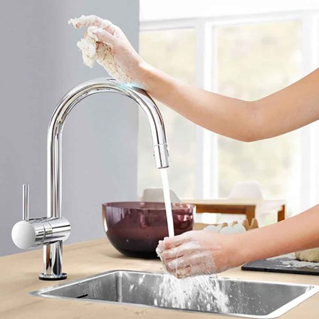 Grohe Minta Touch Electronic Monobloc Mixer With Swivel C Spout
