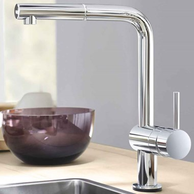 Grohe Minta Touch Electronic Mono Sink Mixer with L-Spout & Pull Out Mousseur - Starlight Chrome