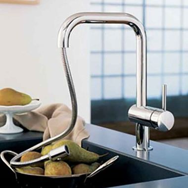 Grohe Minta Single Lever Mono Sink Mixer with Extractable Trigger Spray