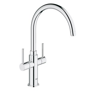 Grohe Ambi Cosmopolitan Twin Lever Mono Sink Mixer With Swivel Spout - Chrome