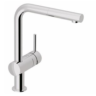 Grohe Minta Single Lever Mono Sink Mixer With Pull Out Spout - Starlight Chrome