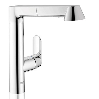 Grohe K7 Single Lever Mono Sink Mixer with Pull Out Spray - Chrome