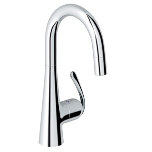 Grohe Zedra Single Lever Mono Sink Mixer With Pull Out Spray