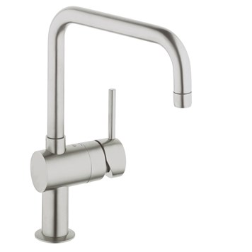 Grohe Minta Single Lever Mono Sink Mixer with Swivel Spout - Super Steel