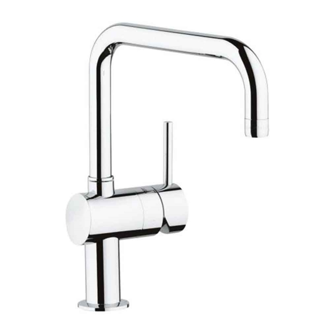 Grohe Minta Single Lever Mono Sink Mixer with Swivel 'U' Spout