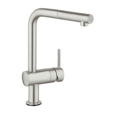 Grohe Minta Single Lever Monobloc Kitchen Mixer with Pull-Out Spout