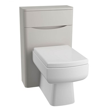 Maya Back to Wall Toilet Unit - Grey