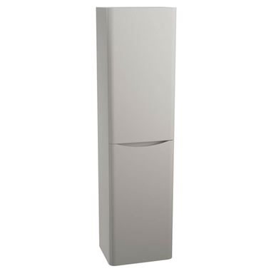 Maya 1500mm Wall Mounted Tall Cabinet - Grey