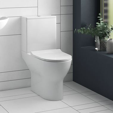 Harbour Acclaim Rimless Space-Saving Toilet & Soft-Close Thin Seat