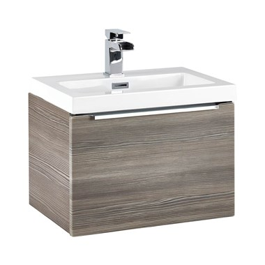 Harbour Alchemy 500mm Wall Hung Vanity Unit & Basin - Avola Grey