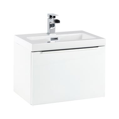 Harbour Alchemy 500mm Wall Hung Vanity Unit & Basin - Gloss White