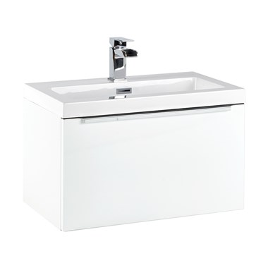 Harbour Alchemy 600mm Wall Hung Vanity Unit & Basin - Gloss White