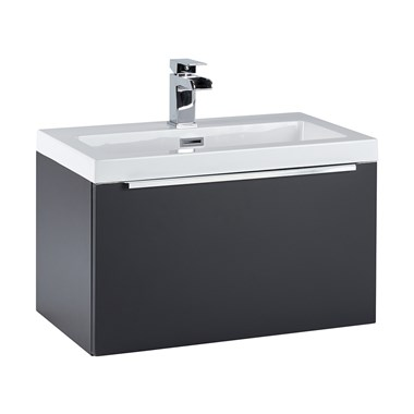 Harbour Alchemy 600mm Wall Hung Vanity Unit & Basin - Graphite Grey
