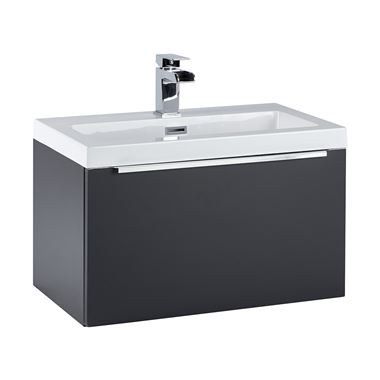 Harbour Alchemy 600mm Wall Hung Vanity Unit & Basin - Anthracite Grey