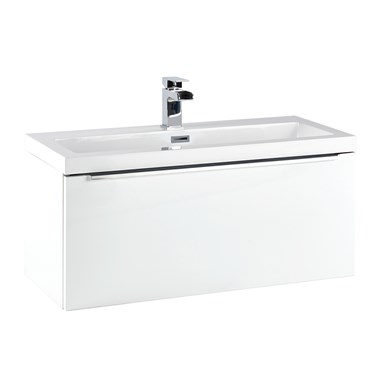 Harbour Alchemy 800mm Wall Hung Vanity Unit & Basin - Gloss White