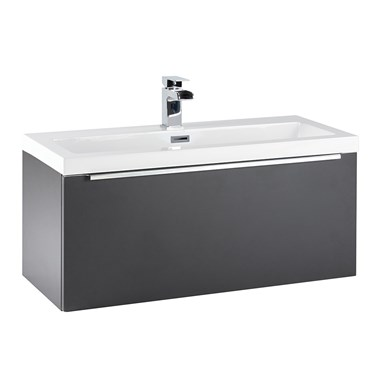 Harbour Alchemy 800mm Wall Hung Vanity Unit & Basin - Graphite Grey