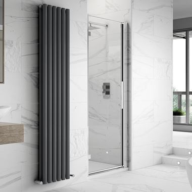 Harbour Alchemy 8mm Easy Clean Hinged Shower Door - 760mm