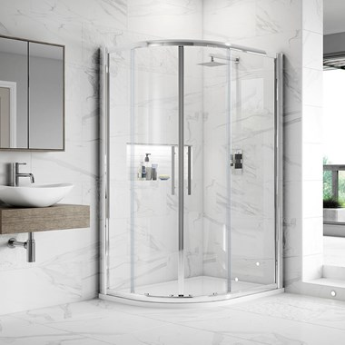 Harbour Alchemy 8mm Easy Clean Offset Quadrant Shower Enclosure