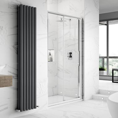 Harbour Alchemy 8mm Easy Clean Sliding Shower Door & Optional Side Panel
