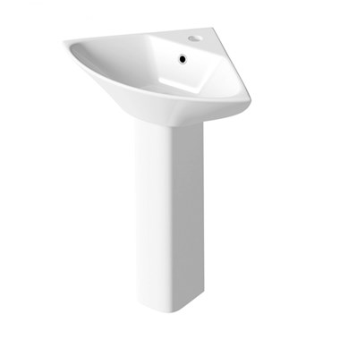 Harbour Alchemy 450mm Corner Basin & Pedestal