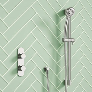 Harbour Slim Aspero Concealed Thermostatic Shower Valve & Slide Rail Kit