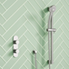 Harbour Slim Plate Single Outlet Concealed Thermostatic Shower Valve