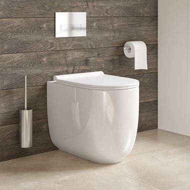 Harbour Status Rimless Back to Wall Toilet and Wafer Thin Soft Close Seat