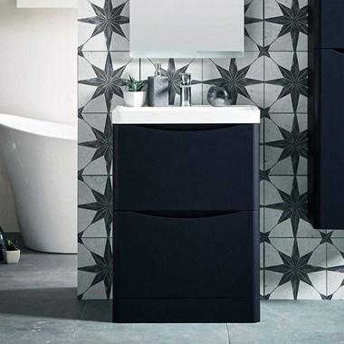 Harbour Clarity 600mm Floorstanding Vanity Unit & Basin - Indigo Blue