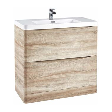Harbour Clarity 900mm Floorstanding Vanity Unit & Basin - Bardolino Driftwood Oak